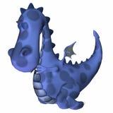 Het blauwe Beeldverhaal van de Draak Royalty-vrije Stock Afbeeldingen