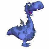 Het blauwe Beeldverhaal van de Draak Stock Afbeeldingen