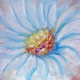 Het blauwe bloem schilderen Stock Foto's