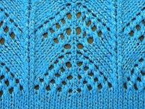 Het blauwe breien stock afbeeldingen