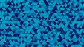 Het blauwe 3D driehoekenmozaïek geeft terug royalty-vrije illustratie