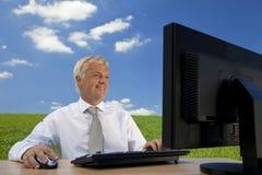 Het blauwe Denken van de Hemel Stock Foto