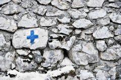 Het blauwe Dwars Merken Stock Foto's