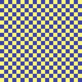 Het blauwe en gele patroon van het textuurschaak vector illustratie