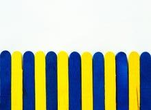 Het blauwe en gele verbleken Stock Afbeelding