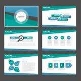 Het blauwe en groene multifunctionele infographic van het de vliegerpamflet van de presentatiebrochure van het de websitemalplaat Royalty-vrije Stock Afbeelding