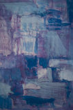 Het blauwe en purpere schilderen Stock Foto's