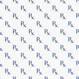 Het blauwe en Witte Patroon van het Voorschriftsymbool herhaalt Achtergrond Stock Afbeelding