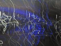Het blauwe en witte stralen lichte schilderen Royalty-vrije Stock Foto