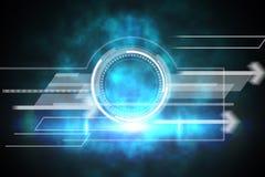 Het blauwe en zwarte ontwerp van de technologiewijzerplaat Stock Afbeeldingen