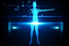 Het blauwe figuurzaaglichaam verdelen Royalty-vrije Stock Afbeeldingen