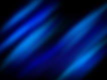 Het blauwe glanzen op zwarte Stock Foto