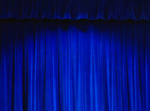 Het blauwe Gordijn van het Theater Stock Afbeeldingen