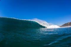 Het blauwe Grote Water van het Golfdetail Stock Foto
