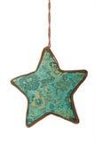 Het blauwe hangende ornament van Kerstmis stock fotografie