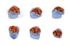 Het blauwe hart stelt voor Stock Afbeeldingen