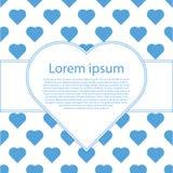 Het blauwe hart van Valentine op wit Royalty-vrije Stock Afbeeldingen