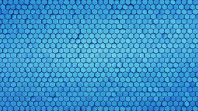 Het blauwe hexagon patroon abstracte 3D teruggeven stock illustratie