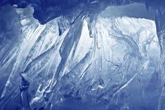 Het blauwe hol van het Ijs royalty-vrije stock foto's