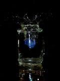 Het blauwe ijs Stock Foto