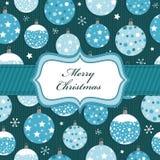 Het blauwe Kerstmis verpakken Stock Afbeeldingen