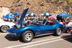 Het blauwe korvet van Chevrolet van 1970 Royalty-vrije Stock Afbeelding
