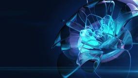 Het blauwe kristalbloem waggling in de wind stock videobeelden