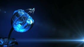 Het blauwe kristalknop waggling in de wind stock illustratie