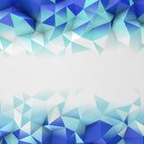 Het blauwe lage poly geometrische oppervlakte abstracte 3D teruggeven Stock Fotografie