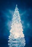 Het blauwe licht van de kerstboomlamp Royalty-vrije Stock Foto