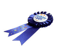 Het blauwe Lint van de Verjaardag Stock Foto