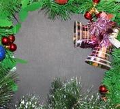 Het blauwe magische frame van Kerstmis Royalty-vrije Stock Foto's