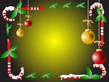 Het blauwe magische frame van Kerstmis Stock Afbeelding
