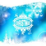 Het blauwe magische frame van Kerstmis Stock Foto's