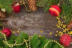 Het blauwe magische frame van Kerstmis Royalty-vrije Stock Foto