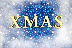 Het blauwe magische frame van Kerstmis stock afbeeldingen