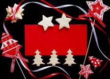 Het blauwe magische frame van Kerstmis royalty-vrije stock afbeelding