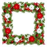 Het blauwe magische frame van Kerstmis Vector illustratie Stock Fotografie