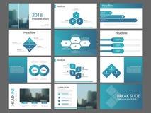 Het blauwe malplaatje van de de elementenpresentatie van de driehoeksbundel infographic bedrijfs jaarverslag, brochure, pamflet,  vector illustratie