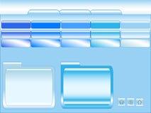 Het blauwe malplaatje van de Website Stock Fotografie