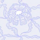 Het blauwe naadloze patroon van de kant vectorstof Stock Foto's