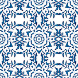 Het blauwe naadloze patroon van het mozaïekornament Stock Foto's