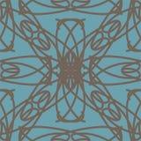 Het blauwe naadloze patroon van het pastelkleur abstracte ornament Royalty-vrije Stock Foto's