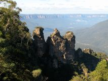 Het blauwe Nationale Park van Bergen, Australië Royalty-vrije Stock Foto