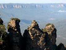 Het blauwe Nationale Park van Bergen, Australië Royalty-vrije Stock Fotografie