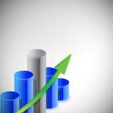 Het blauwe ontwerp van de bedrijfsgrafiekillustratie Stock Fotografie