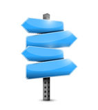 Het blauwe ontwerp van de verkeerstekenillustratie Stock Afbeelding