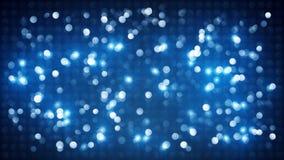 Het blauwe opvlammende onduidelijke beeld van discolichten Royalty-vrije Stock Afbeelding