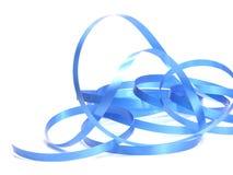 Het blauwe ornament van lintKerstmis royalty-vrije stock afbeeldingen