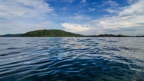 Het blauwe overzees van Sabah Stock Afbeelding
